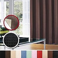 窓美人 センチュリオン 完全遮光 特殊コーティングカーテン 半間用 1枚入り 幅100×丈135cm ブラック ドット柄 断熱・遮熱・防音