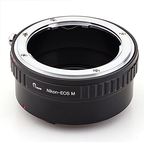 Pixco - Adaptador de anillo de montaje para objetivo Nikon Canon EOS M para todas las cámaras de boca Canon EOS M M10, M3 M2 M1 (Nikon-EOS M) (color al azar)