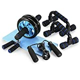 <span class='highlight'>AB</span> <span class='highlight'>Wheel</span> <span class='highlight'>Roller</span> Kit 5-in-1 Home Workout Set <span class='highlight'>Fitness</span>, Exercise Skipping & <span class='highlight'>Knee</span> Pad