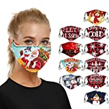 Christmas Adults Facemask Coverings - Santa Claus Snowman Mouth Balaclava Reusable Decorative Face_Masks for Women and Men