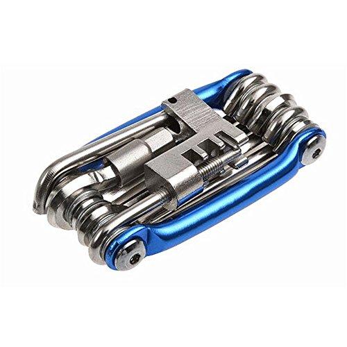 ICYANG Kit de reparación de Herramientas de Bicicleta 11 en 1, Multiherramienta, Kit de reparación de radios hexagonales, Destornillador de radios, Herramienta de reparación de Carretera MTB