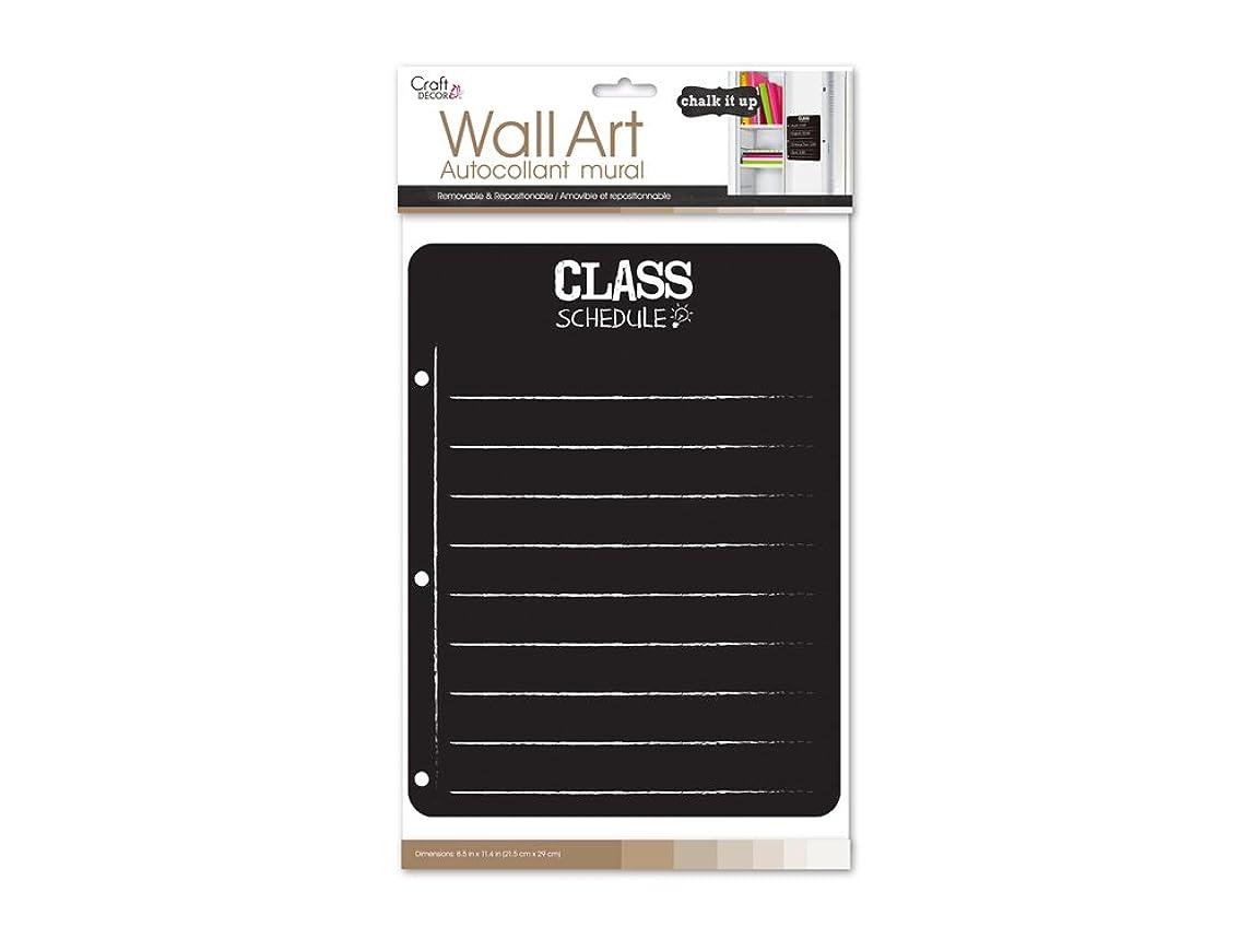 Craft Décor CD989F Chalkboard/Wall Organizer Sticker, 8inx10.5in