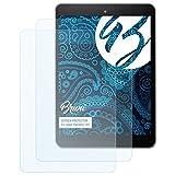 Bruni Schutzfolie kompatibel mit Haier Pad Mini 781 Folie, glasklare Bildschirmschutzfolie (2X)
