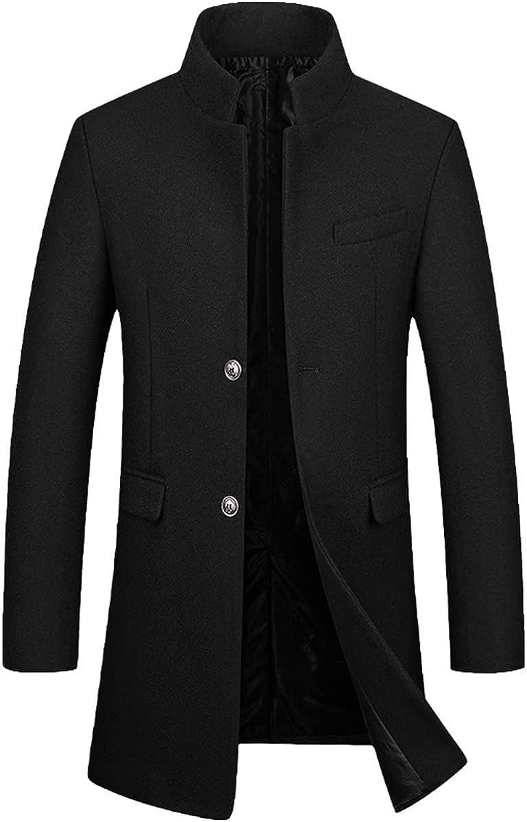 Men's Winter Coat Cashmere Coat Winter Leisure Wool Long Trench Coat