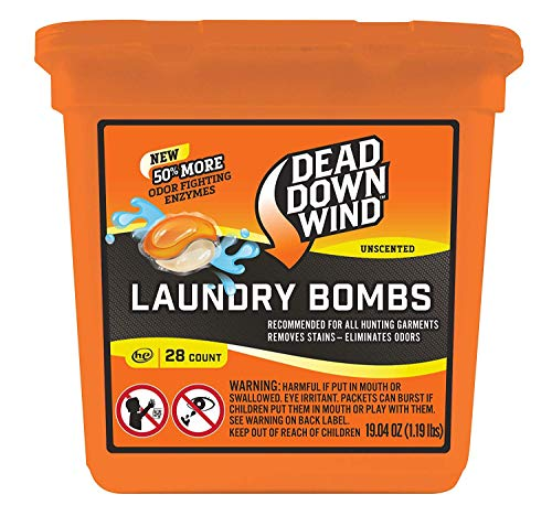 Review Of Dead Down Wind Laundry Bombs | 28 Count | Unscented | Laundry Detergent, Odor Eliminator +...