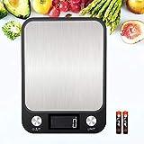 KINLO Digitale Küchenwaage Touch Control Digitalwaage 10kg Maximalgewicht Nahrungsmittelskala elektronische Waage hohe Präzision auf bis zu 1g, Haushaltswaage Inkl. Batterien