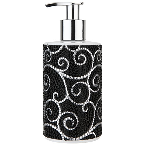 VIVIAN GRAY 3088 Diamonds Seifenspender mit Creme Seife Glamour, schwarz (250 ml)