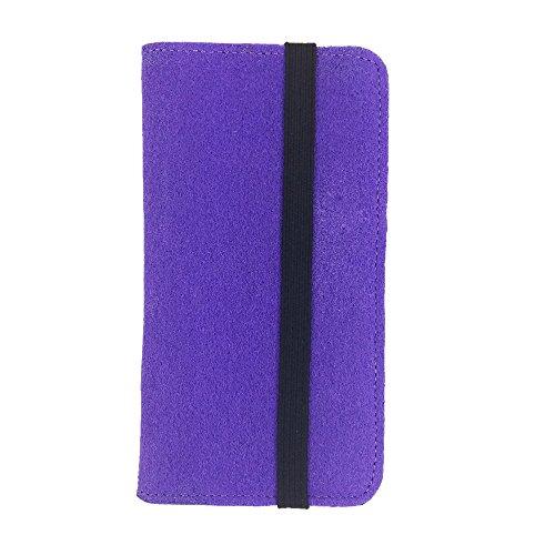 handy-point Universell Organizer für Smartphone Tasche aus Filz Filztasche Filzhülle Hülle Schutzhülle mit Kartenfach für Samsung, iPhone, Huawei (5,6-6,4 Zoll max 18 x 9,3 m, Lila)