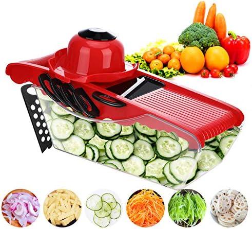 MIGECON Vegetable Chopper Fruit Dicer Food Cutter Mandoline Slicer Multi 6 Blades Storage Container product image