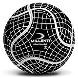Millenti Soccer Balls Size 5 - ProGrid Official Match Soccer Ball with High-Visibility, Easy-to-Track Designs, Black, SB0905BK