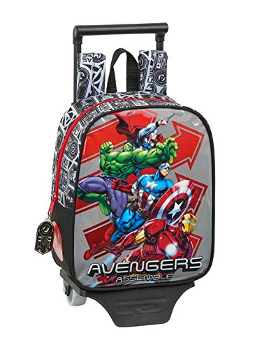 safta 612079280 Mochila guardería ruedas, carro, trolley Avengers, Multicolor