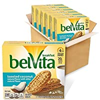 belVita Toasted Coconut Breakfast Biscuits 5 Count Box 8.8 Ounce (Pack of 6) [並行輸入品]