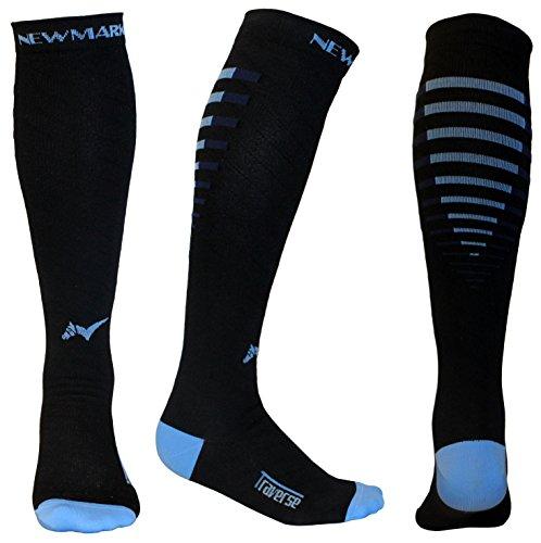 NEWMARK Compression Socks for Men & Women, Best Graduated Stockings for Runners, Nurse, Plantar Fasciitis, Hiking, Athletic
