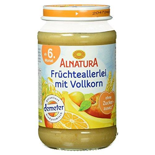 Alnatura Demeter Bio Früchteallerlei mit Vollkorn, 6er Pack (6 x 190 g)