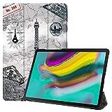 Slabo - Funda para Tablet Samsung Galaxy Tab S5e (10,5 Pulgadas, T720, T725 (2019), función de Encendido y Apagado automático, Cierre magnético, diseño de París