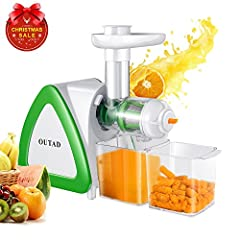 🍊Higher Nutrional Value - The masticating juice extractor extracts more vitamins, enzymes, minerals and trace minerals in the juice compared to centrifugal juicers. 🥝Less Oxidation - 80 rpm Lower speed means less foaming, no clogging, or heat build-u...