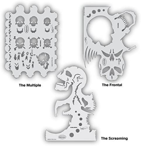 Artool Freehand Airbrush Templates, Freehand Skullmaster Set by Iwata-Medea