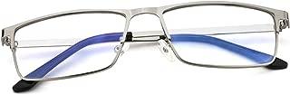Blue Light Blocking Glasses Metal Full Rimmed Clear Eyeglasses for Women and Men