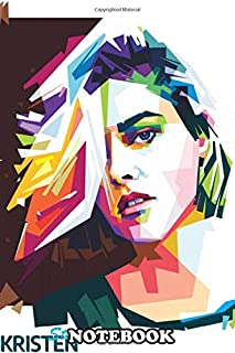 Notebook: The Best Artwork Of Kristen Stewart In Pop Art Style , Journal for Writing, College Ruled Size 6