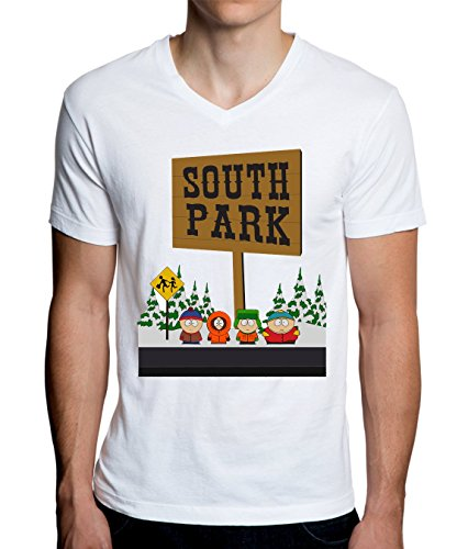 South Park Logo Graphic Design Men's V-Neck T-Shirt XX-Large