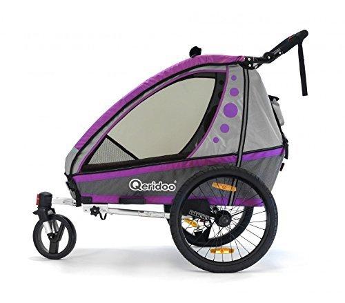 Jumbo-1 violeta de bicicleta para niños remolque infantil para bicicletas de paseo de aluminio qeridoo con 419.-