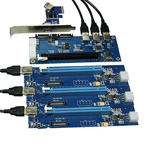 PCIe 1 to 4 PCI Express 16X Slots Riser Card PCI-E 1X...