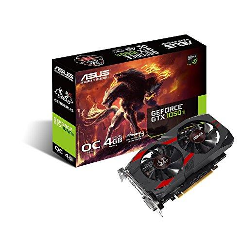 ASUS Cerberus GeForce GTX 1050 Ti OC Edition 4 GB GDDR5, Scheda Video Gaming per Gaming HD e eSport
