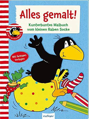 Alles gemalt! Kunterbuntes Malbuch vom kleinen Raben Socke: | Über 80 Ausmalbilder für Kinder ab 3 Jahren (Der kleine Rabe Socke)