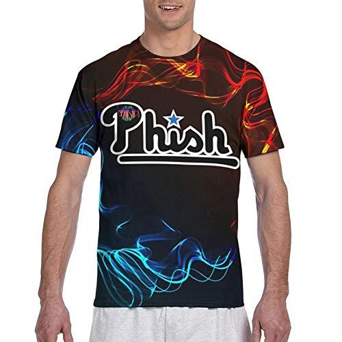 Phish-Retro Logo Mens manica corta S-3XL Tee Top 3D stampa Fitness T-shirt classica Come mostrato. L