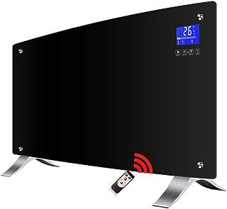 Radiador eléctrico Calentador Inteligente Panel de Vidrio pie Aluminio pie Montaje en Pared disipador de Calor 2000W Negro