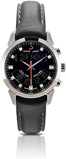 الفجر ساعة سويسرية رسمية رجال رقمي جلد طبيعي - WA-10L