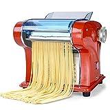 Yaseking Máquina de pasta 135W 220V eléctrico Pasta máquina del fabricante 6 Espesor configuración perfecta for el espagueti lasaña o bola de masa hervida Pieles de apagado Pasta de corte (Color: Nara