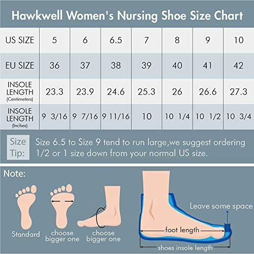 Hawkwell Women's Lightweight Comfort Slip Resistant Nursing Shoes,White PU,6.5 M US