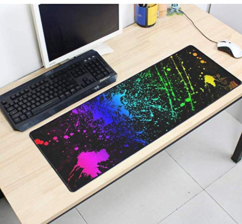 Anti-kid rubber grote Gaming Mouse Pad Kleurrijke verf patroon muis Mat Desktop Pc Computer Geschenken Mousepad Big 900 * 400 * 3Mm