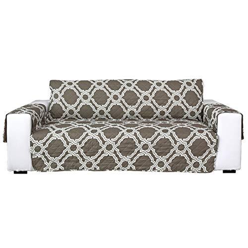 Tapa de sofá de tela Spandex Ultrasonic acolchado con una sola pieza antideslizante for mascotas tapa cubierta cubierta protectora de doble cara paño de cepillado impreso para la mayoría de los tipos