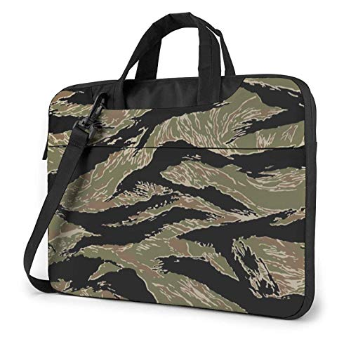 Laptop Messenger Bag Laptop Case, Tiger Stripe Camo Print Laptop Shoulder Bags Multi-Functional Notebook Sleeve