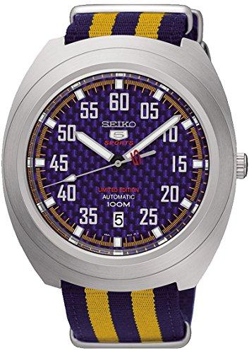 Seiko Neo Sports Reloj para Hombre Analógico de Mecánico de Cuerda Manual con Brazalete de Nylon SRPA91K1