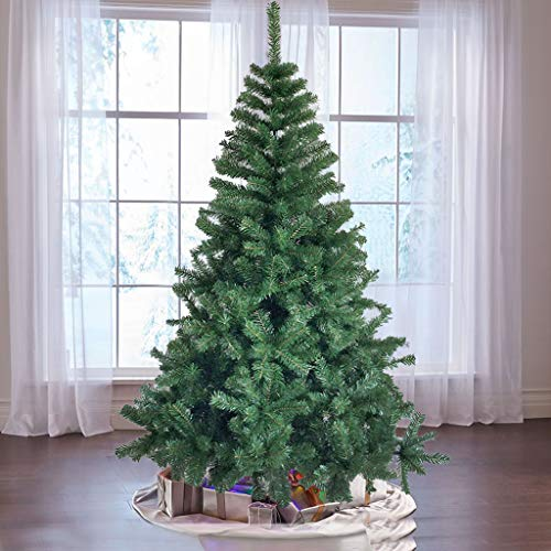 Garuda Home Treats Half Christmas Tree for Office or Home | Artificial Xmas Tree with Metal Stand | 800 Tips Realistic Pine Branches 1.8m, Ship from The US (6ft Half Tree)