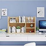 Mini estantes de escritorio de madera Oficina de almacenamiento multi-capa Biblioteca Organizador de escritorio estante de madera estante de exhibición for los niños del cabrito del estudiante Rack or