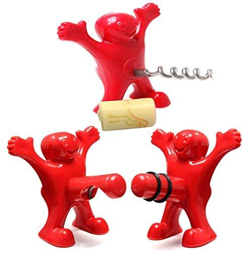 Selecto Bak - Fles Stopper, Kurkentrekker en Flesopener Set van 3
