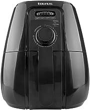 TAURUS HERMES Freidora de Aire, 4 L (4.2 Qt), Temporizador, Multifunción + Recetario Incluido, Negro, Grande