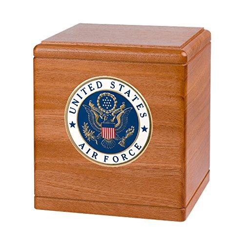 Wood Cremation Urn - Mahogany Freedom Military (Air Force)