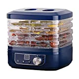 SJTL Essicatore Alimenti 5 vassoi 350 W Conservatore Elettrico Professionale per Essiccatore Frutta Verdura Carne o Manzo Temperatura Regolabile(35 ° C-70 ° C), Timer di 10 Ore