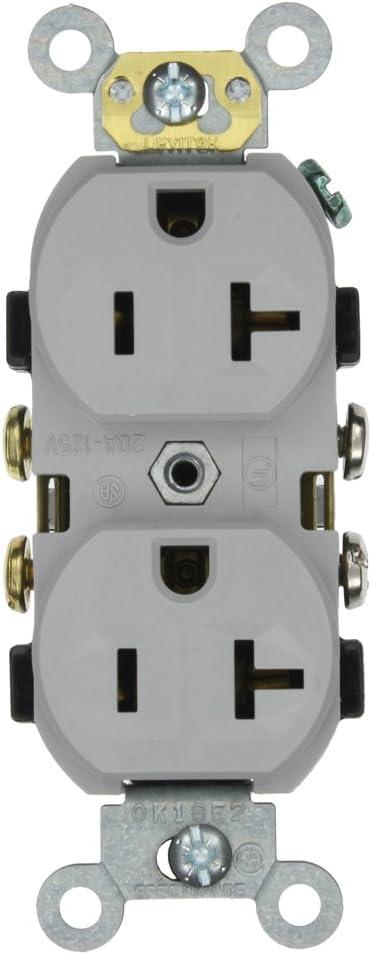 Leviton CR20-GY 20-Amp 125-Volt Duplex unisex San Francisco Mall Body Narrow Receptacle