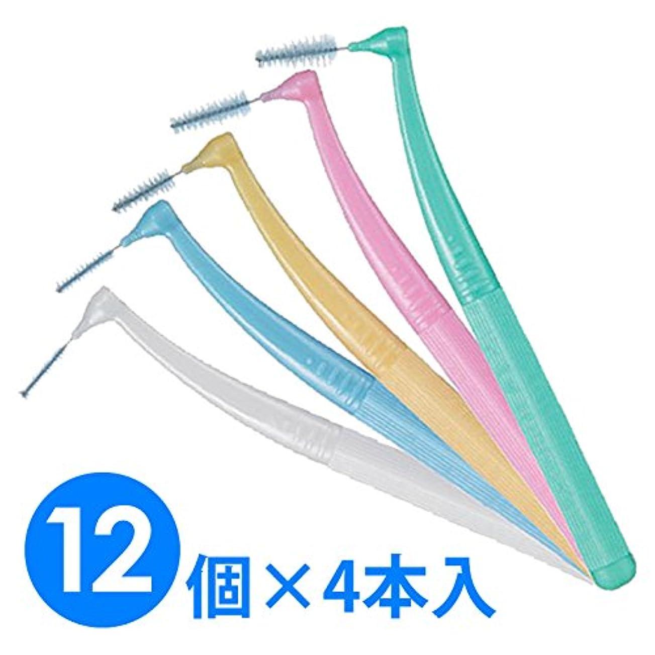 ファン質量学部長【12個1箱】ガム?プロズ 歯間ブラシL字型 4本入り×12 (SSS(1)ホワイト)