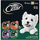 Cesar Soft Wet Dog Food Classic Loaf in Sauce Poultry Variety Pack, (24) 3.5 Oz Easy Peel Trays with Real Chicken, Turkey or Duck