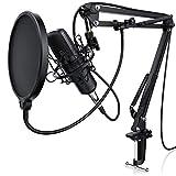 LIAM & DAAN Kondensatormikrofon Mikrofonarm - Studiomikrofon Set - Großmembran Kondensatormikrofon...