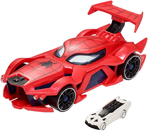 Product Image of the Marvel Hot Wheels Spider-Man Web-Car Launcher