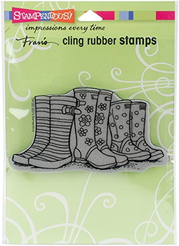 Stampendous Cling Stamp, Puddle Boots