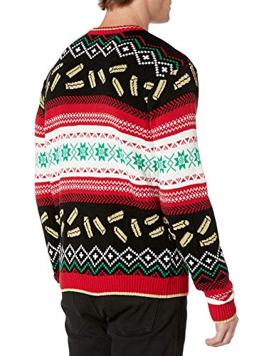 Blizzard Bay Men's Ugly Christmas Sweater Food 2 Festive and humorous patterns that are perfect for the holiday season Made with a soft knit for a comfortable and easy fit
